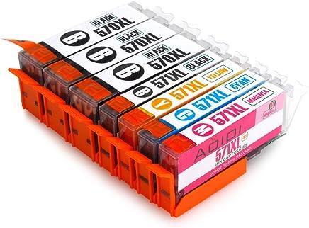 Aoioi PGI-570 CLI-571 Compatibili Cartucce Canon PGI-570 CLI-571 XL per Canon PIXMA MG5750 MG5751 MG5752 MG6850 MG6851 MG6852 TS5050 TS5051 TS6050 TS6051 (3 PG-Nero,1 Nero,1 Ciano,1 Magenta,1 Giallo)