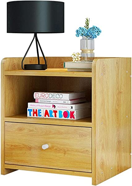 Bedside Table Night Table Bedroom Storage Cabinet Living Room Bookcase Solid Wood Floor Cabinet Two Drawers Bedroom Furniture Color Wood Color Size 322640cm