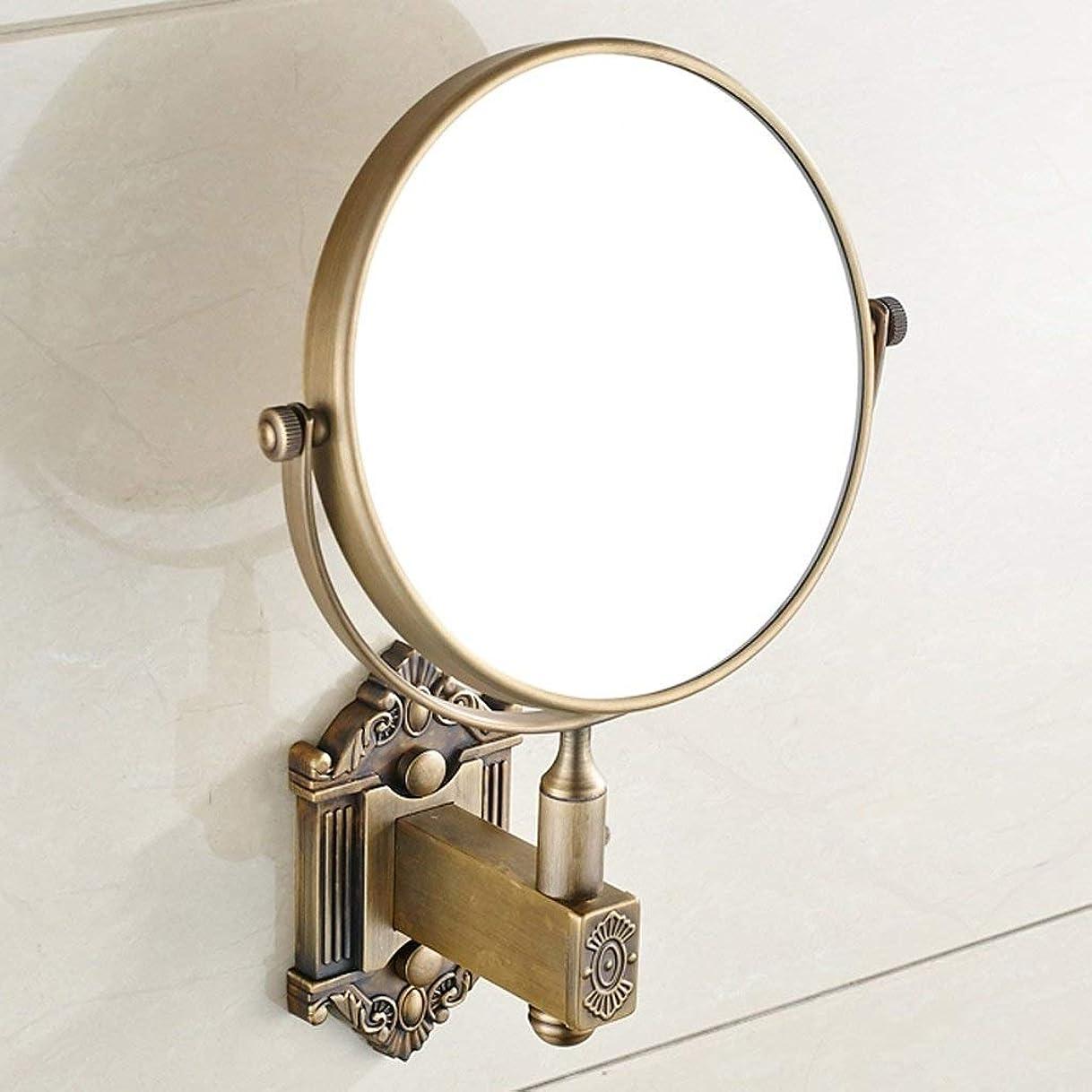 こどもの日辛なモールス信号Selm 壁掛け式化粧鏡浴室折りたたみ伸縮式虫眼鏡HD 360°回転 (Color : Retro Color)