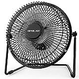 OPOLAR Office Quiet Desk Fan, USB Powered Only, 360 Degree Rotation, Perfect Personal Fan, Mini Metal Cooling Fan 6 Inch