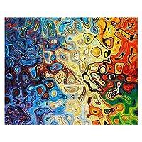 数字油絵 大人のための数字で塗る子供たち手塗りの通り風光明媚な油絵家の装飾アクリル絵画 (Color : 993258, Size(cm) : 50x65cm no frame)