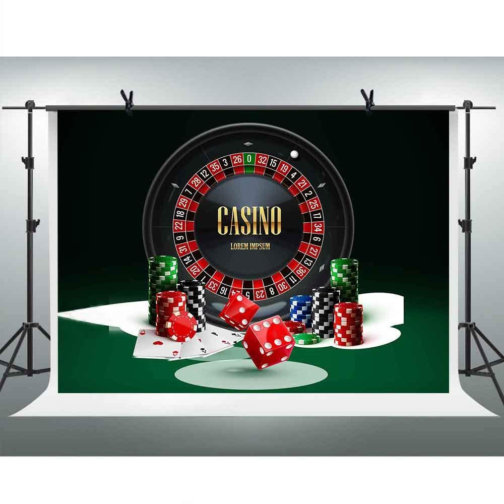 Amazon Fhzon カジノ 写真 背景 ポーカーチップ ターンテーブル サイコロ 写真背景 壁紙 ビデオ小道具 バックペーパー 背景布 通販