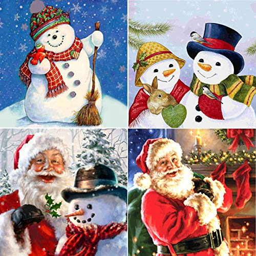 Christmas Santa Claus Full Drill Diamond Painting Kit, 5D DIY Rhinestone Embroidery Arts Craft, Paint by Numbers (Christmas3)