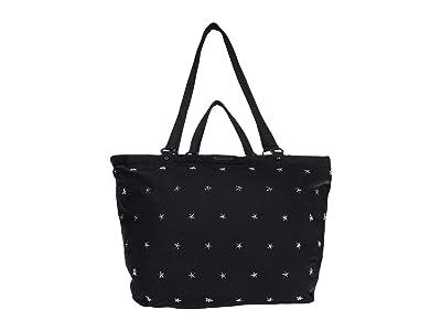 Rebecca Minkoff Siena Nylon Tote w/ Stars (Black) Handbags