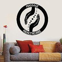 Logo Pegatinas De Pared Masaje Salud Manos Del Maestro Relajante Cuerpo Puertas Y Ventanas Pegatinas De Vinilo Spa Decorac...