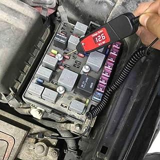 Avertissement de gel Voltm/ètre 12/V//24/V Multim/ètre Auto Num/érique Volt Temp Affichage LED Thermom/ètre Horloge Noctilucous