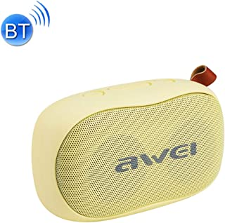 Mini Portable Stereo Speaker Y900 Mini Portable Wireless Bluetooth Speaker Noise Reduction Mic, Support TF Card/AUX(Black+Yellow) (Color : Yellow)