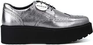 HOGAN Luxury Fashion Womens HXW3550AB00MECB205 Silver Lace-Up Shoes | Season Permanent