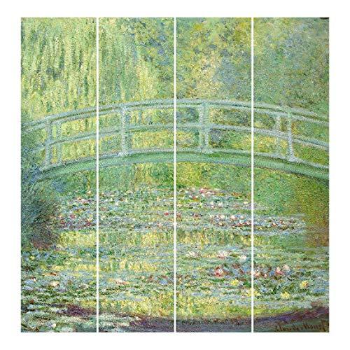 Bilderwelten Cortinas deslizables - C. Monet 4 Paneles japoneses Montaje para Techo 250x240cm