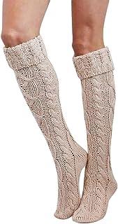 Mujer Invierno Divertidos Termicos Algodon Las Niñas Las Mujeres Del Muslo De Alta Sobre La Rodilla Calcetines Largas Medias De Algodón Caliente