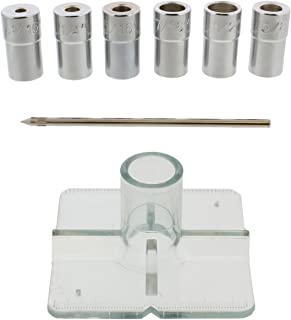 DCT SAE Drill Bit Guide Centering Punch 8-pc Center Drilling Set Kit – 3/16 to 1/2in..