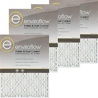 14X18X1A (Actual Size) Enviroflow Air Filter (Merv 8 ) (4 Pack)