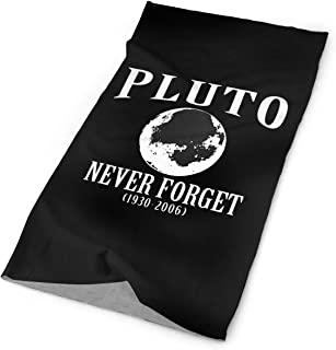 Jadetian Pluto Never Forget 1930-2006 Unisex Headwear Bandanas Outdoor Sports Multifunctional Headscarf Scarf for Runing, Fishing, Hiking, Motorcycle, Music Festivals, Riding, Yoga