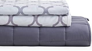 YnM Weighted Blanket 3 Pieces Set with 2 Duvet Covers | 60''x 80'' 22lbs, Queen Size for One Person(~210lbs) Use | Suit for Hot & Cold Sleepers Year Round Use