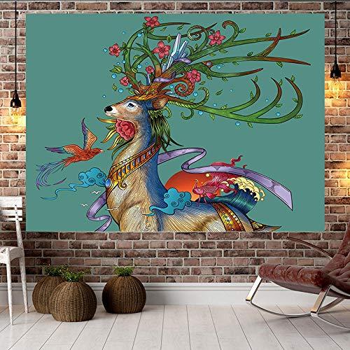 XURANFANG Goedkoop vierseizoenen wanddecoratie tapijt woonkamer thema restaurant hangend tafelkleed nacht foto achtergrond doek Specification 1 breedte 2 m x hoogte 1,5 m.
