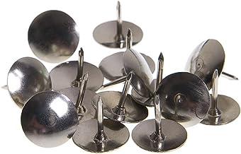 Pack of 100pcs Small Nickel Plated Push Pins Thumbtack Pushpin Metal Head Push Pins for Home Office