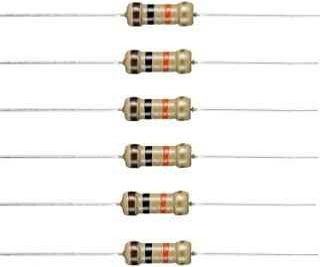 BOJACK 10K Ohm Resistors 1/2 W ±5% Carbon Film Single Resistor (Pack of 200 pcs)