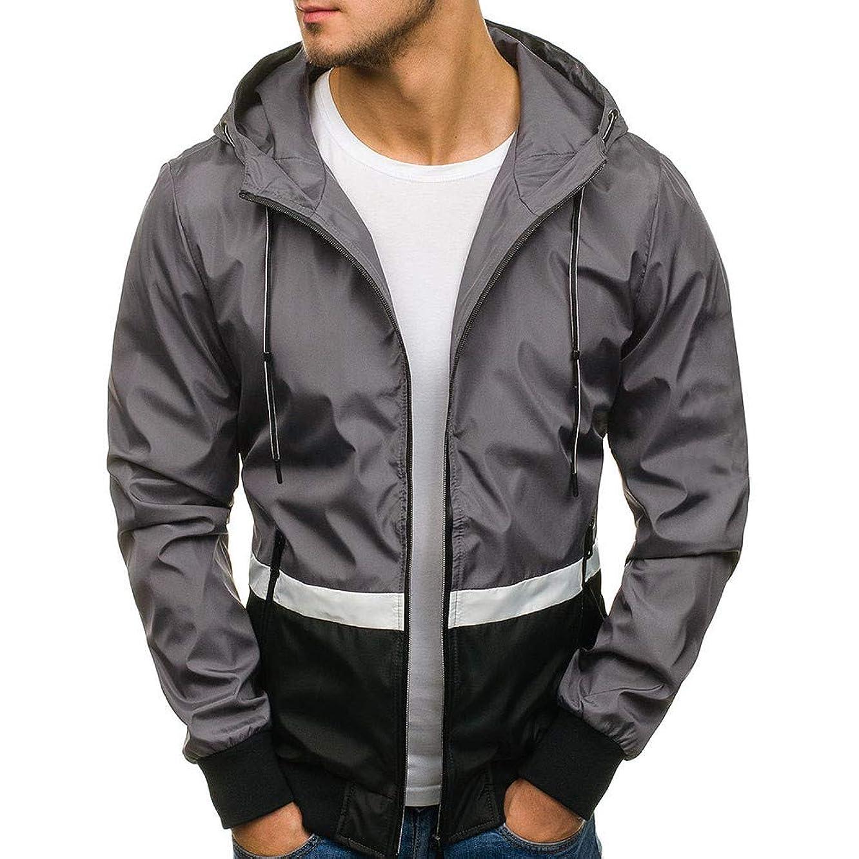 MODOQO Men's Long Sleeve Zipper Hoodie Casual Sweatshirt Jacket Coat Cardigan