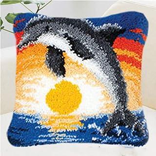 Crochet Loquet Kit Coussin Bricolage Main Craft Coussin Coussin Loquet Crochet Kit de Broderie Home Decor 40 * 40cm Motif ...