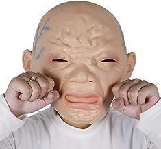 molezu Crying Baby Mask Halloween Novelty Scared Baby Mask Latex Creepy Scary Mask