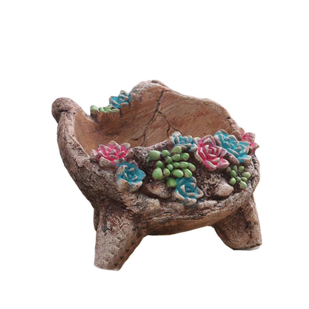 Lineary-GD Adorno de decoración de jardín Maceteros de jardín Macetas para Uso en el hogar (Color : Natural, tamaño : 11.7 * 10.8 * 8.7cm): Amazon.es: Hogar