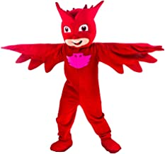 Red PJ Mask Mascot Costume Owlette Party Adult Halloween Cosplay Character