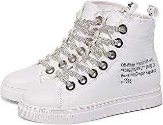 Womens Canvas Sneakers High Top Lace ups Casual Walking Shoes
