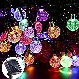Guirnalda de Luces Solares para Exteriores,50 LED 7m, con 8 modos de iluminación, para árbol de Navidad, Halloween, jardín, terraza, boda, fiesta, cenador, patio, al aire libre (multicolor)