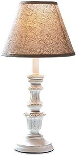 Loberon Lampe à poser Créteil - MDF, Bois de pin, lin - H/Ø env. 39/20 cm