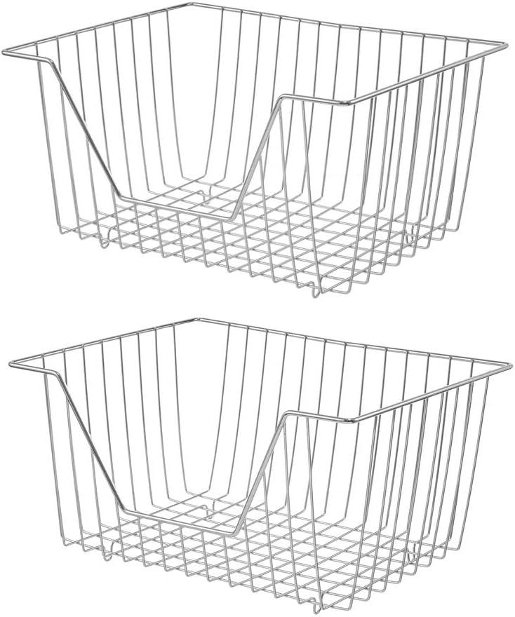 blitzlabs Fridge Wire Max 68% SALENEW very popular! OFF Storage Basket Bins - Op Organizer Freezer
