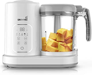 Baby Food Maker Baby food Processor Puree Blender Multi-Function Steamer Grinder Blender, Baby Food Warmer Mills Machine, Constant Temperature 24h, Auto Cooking & Grinding | 8 Reusable Food Pouches