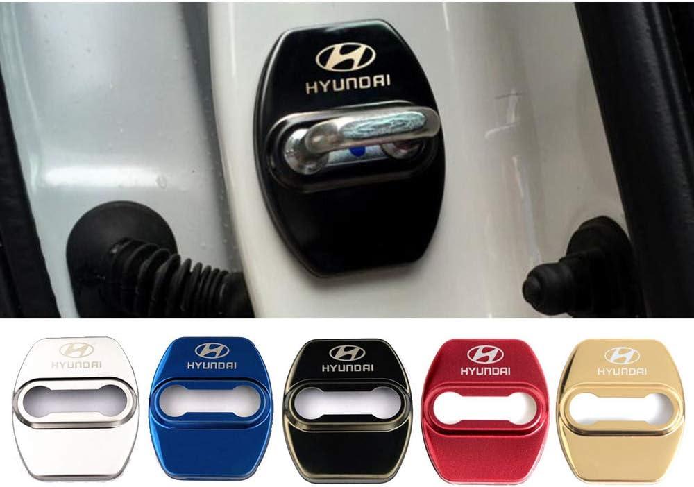Z/&HX Hebilla de la Tapa de la Cerradura de la Puerta Acero Inoxidable Cubierta Protectora para Hyundai ix25 MISTRA Sonata 8 Verna Accesorios de protecci/ón Interior del Coche,Oro