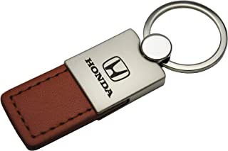 Au-Tomotive Gold, INC. Duo Leather Key Chain for Honda (Brown)
