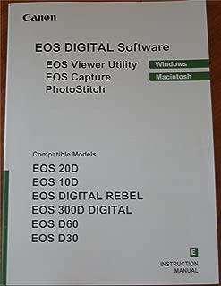 CANON EOS DIGITAL SOFTWARE INSTRUCTIONS MANUAL (Compatible Models: EOS 20D, 10D, Digital Rebel, 300D Digital, D60, D30) For Windows Macintosh