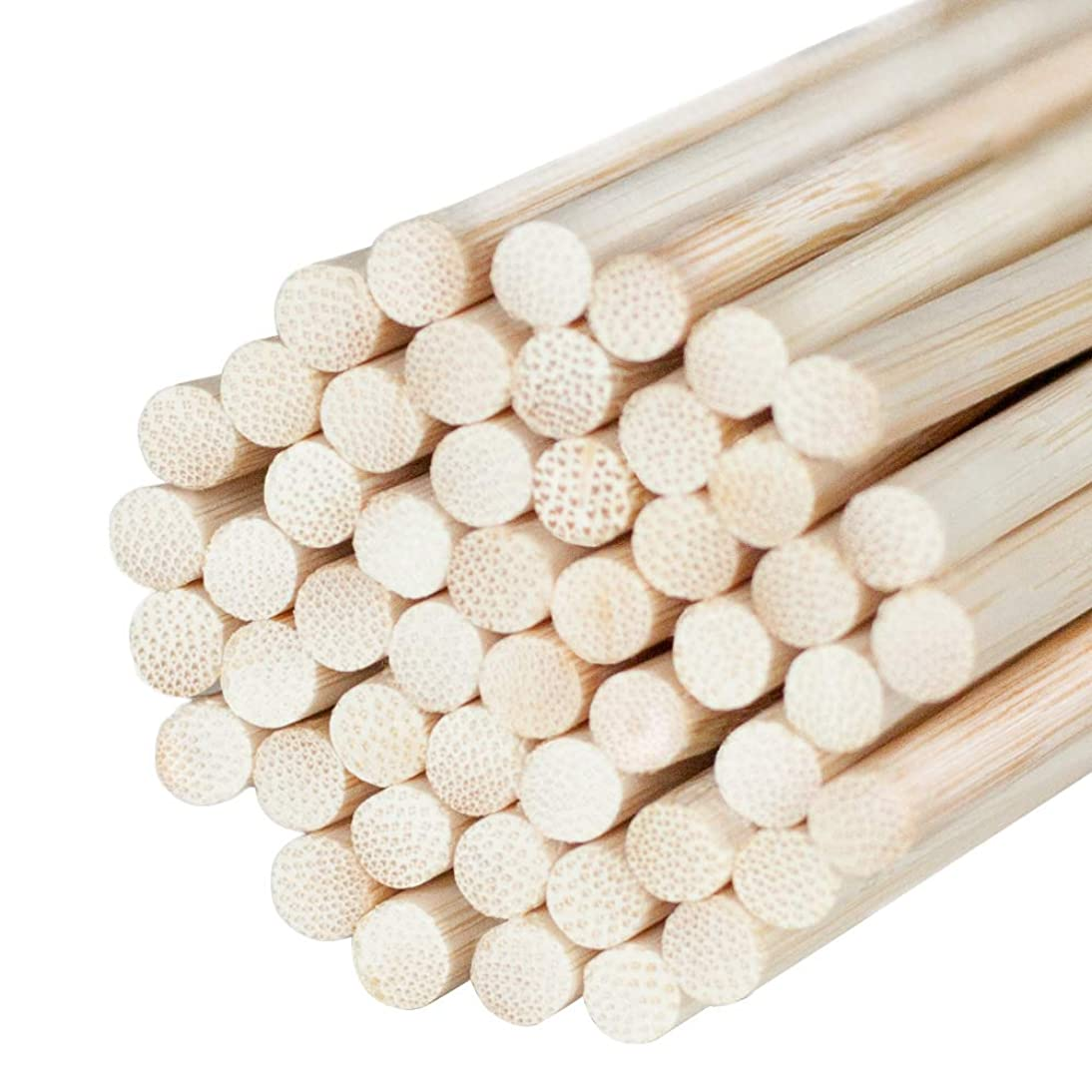Natural Bamboo Dowel Craft Sticks for Photo Booth Props – Bamboo Rods Sticks for Crafts & Photo Booth Props 12 x 1/4 Inch Wooden Dowels (50 Count)