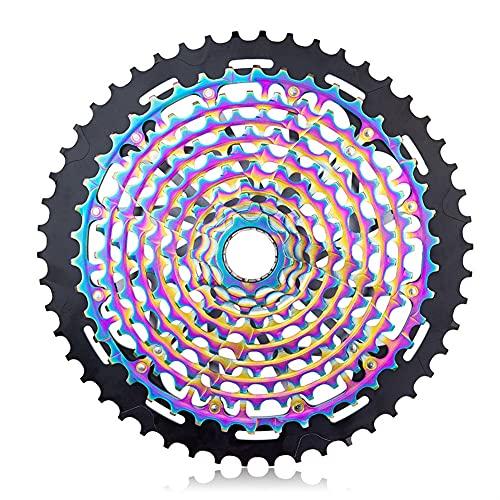 NgMik Bike Freewheels 12 Cassette De Velocidad Colorido 9-50T Flywheel MTB BMX Road Bicycle Cycling Freewheel Reemplazo Accesorios Bicicleta por Carretera (Color : Rainbow, Size : 9-50T)