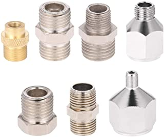 Professional 7pcs Airbrush Adaptor Kit Fitting Connector Set for Air Compressor & Airbrush Hose