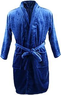 メンズ 長袖 ナイトローブ サンゴフリース ローブ ベルト付き バスローブ パジャマ 吸水 速乾 全3サイズ5色