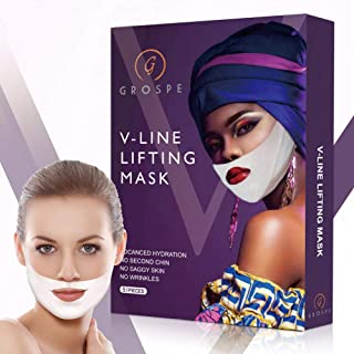 Miracle V-Shaped Slimming Mask V Line Mask, V Line Mask Neck Mask Face Lift V Lifting Chin Up Patch Double Chin Reducer Tightening Mask(5 Pack)