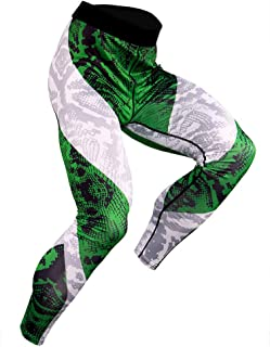 Men's Workout Compression Tights Pants Cool Dry Breathable Baselayer Running Leggings,Green,XXXL
