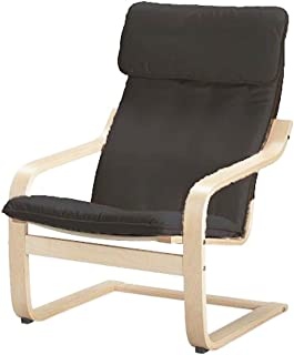 The Cotton Poang Chair Cover Replacement is Custom Made for IKEA Poang Armchair Slipcover Only. (Darker Gray)