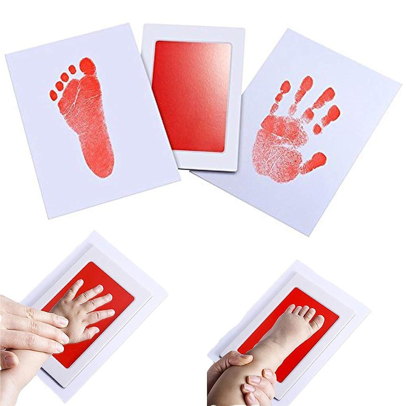 うなずく労苦クロニクル赤ちゃん 手形 足型 フォトフレーム 赤ちゃん 誕生 手形足型 写真立て フォトフレーム 卓上用 出産祝い2枚入 (0?1歳用)