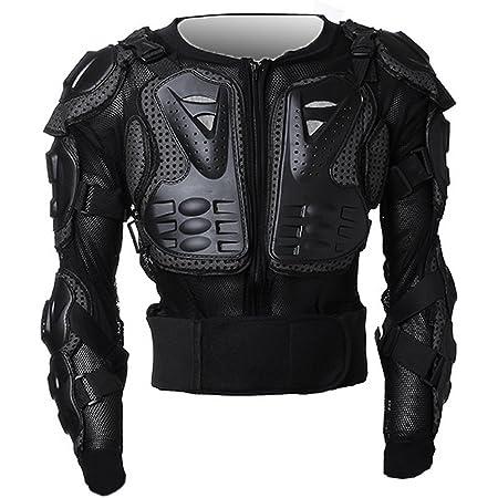 ICOCO オートバイプロテクター レーシングプロテクター 上半身保護 肩、胸 、背中、 腰、 肘のガード EVA 耐衝撃 メッシュ構造 通気 XL