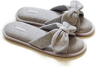 Halluci Women's Cozy Cotton Memory Foam House Slippers w/Non Slip Soles