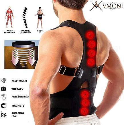 VMONI Real Doctor Posture Corrector Shoulder Back Bone Braces Support Belt for Men and Women (XL)