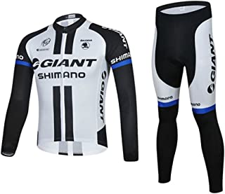Strgao 2016 Men's Pro Team MTB Bike Bicycle Winter Thermal Cycling Long Sleeve Jersey and Pants Tights Set Suit
