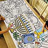 Tiny Expressions Giant Hanukkah Coloring Poster for Kids - 30 x 72 Inches Jumbo Paper Banner or Table Cover for School Parties or Events
