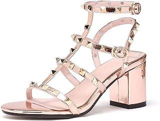 569b8b061568 wetkiss 2019 Brand Rivets Women Sandals Fashion Studded Shoes Summer Thick Heeled  Sandals Woman Gladiator Shoe