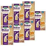 Blédina Blédîner Riz Carottes dès 6 mois - Céréales du Soir pour Bébé à partir de 6 - 7 packs de 210g