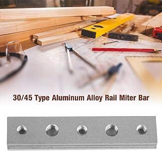 Carriles en T, plantilla de riel de inglete con ranura en T para carpintería de 100 mm / 200 mm / 300 mm / 450 mm, riel en T de aleación de aluminio para herramientas de carpintería(100mm)
